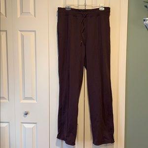 Lululemon size 12 Burgundy Flare Yoga Pants